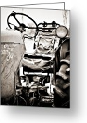 Row Greeting Cards - Beautiful Oliver Row Crop old tractor Greeting Card by Marilyn Hunt