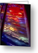 Washington Cathedral Greeting Cards - Beautiful stained-glass Greeting Card by Stephen St. John