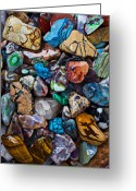 Veins Greeting Cards - Beautiful Stones Greeting Card by Garry Gay