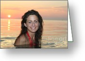 Charismatic Greeting Cards - Beautiful Sunset Greeting Card by Purcell Pictures