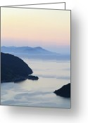 Clear Photo Greeting Cards - Beautiful View Of Sunset At Maurizia Greeting Card by Naoto Shibata