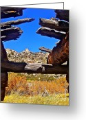 Old Cabins Greeting Cards - Beautiful View Greeting Card by Tina Slee