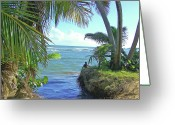 Blues And Greens Greeting Cards - Beautiful Waters of Puerto Rico Greeting Card by Marilyn Holkham