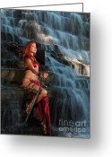 Barbarian Greeting Cards - Beautiful Woman Warrior Greeting Card by Oleksiy Maksymenko