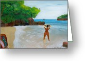 Nicole Jean-louis Greeting Cards - Beauty And The Beach Greeting Card by Nicole Jean-Louis