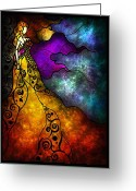 Jewels Digital Art Greeting Cards - Beauty and the Beast Greeting Card by Mandie Manzano