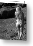 Blonde Girl Greeting Cards - Beauty and the Rocks Greeting Card by Brad Scott