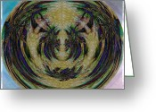 Lacy Fractal Greeting Cards - Beauty Held Greeting Card by Anne Lacy
