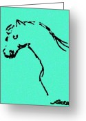 Ocean Art Greeting Cards - Beauty of a Horse Greeting Card by Ocean