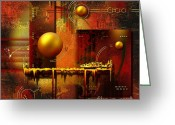 Sun Abstract Digital Art Greeting Cards - Beauty of an illusion Greeting Card by Franziskus Pfleghart