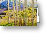 Sky Painting Greeting Cards - Beauty of Aspen Colorado Greeting Card by Gary Kim