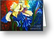 Flower Photographs Painting Greeting Cards - Beauty of Blossom Greeting Card by Uma Devi