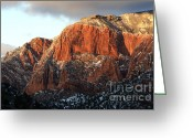 Sacred Photo Greeting Cards - Beauty Of Kolob Canyon  Greeting Card by Bob Christopher