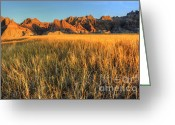 Colorado Photographers Greeting Cards - Beauty Of The Badlands Greeting Card by Bob Christopher