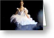 Tulle Greeting Cards - Beauty of the Inner Soul Greeting Card by Paul Gilbert Baswell
