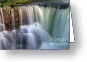 The Edge Greeting Cards - Beauty Of Water Greeting Card by Bob Christopher