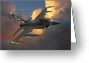 Military Aircraft Greeting Cards - Beauty Pass Greeting Card by Dale Jackson
