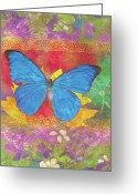 Colorful Photography Painting Greeting Cards - Beauty Queen Butterfly Greeting Card by JQ Licensing