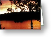 Lakescape Greeting Cards - Beauty To Behold Sunset Greeting Card by Marsha Heiken