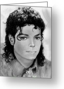 Michael Jackson Greeting Cards - Beauty To The Bone Greeting Card by Carliss Mora