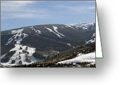 Winter Sports Photo Greeting Cards - Beaver Creek Ski Resort Colorado Greeting Card by Brendan Reals