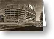 Football Photo Greeting Cards - Beaver Stadium Greeting Card by Jack Paolini