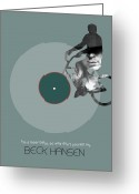 Composer Greeting Cards - Beck Poster Greeting Card by Irina  March