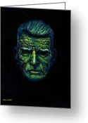 Last To Fall Greeting Cards - Beckett in Blue Greeting Card by Paul Flynn