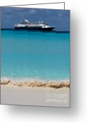 Cruise Ships Greeting Cards - Beckoning Greeting Card by Karen Wiles