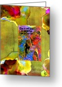Survivor Mixed Media Greeting Cards - Becoming A Woman Greeting Card by Angela L Walker
