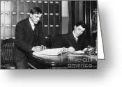 Signing Greeting Cards - Becoming Citizens, 1916 Greeting Card by Photo Researchers