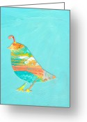 Quail Greeting Cards - Becoming Quail Greeting Card by Jennifer Lommers