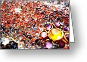 Flower Greeting Cards - Bed Of Sequins Greeting Card by Sumit Mehndiratta