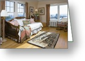 Wood Floors Greeting Cards - Bedroom Greeting Card by Andersen Ross