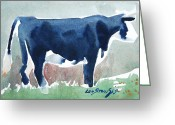 Western Massachusetts Greeting Cards - Beefer study Greeting Card by Len Stomski