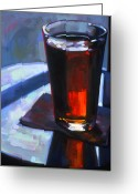 Art Online Greeting Cards - Beer at Vesuvios Greeting Card by Penelope Moore