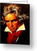Symphony Greeting Cards - Beethoven Greeting Card by Pamela Johnson