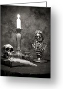 Ink Well Greeting Cards - Beethoven Still Life Greeting Card by Tom Mc Nemar