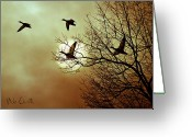 Mallards Greeting Cards - Before a Winter Sky Greeting Card by Bob Orsillo
