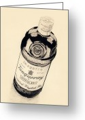 Martini Drawings Greeting Cards - Before Designer Gin Greeting Card by Norm Holmberg