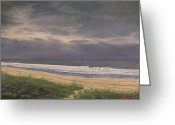 Grey Clouds Greeting Cards - Before Isabella Greeting Card by Robert Decker