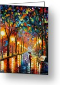 Afremov Greeting Cards - Before The Celebration Greeting Card by Leonid Afremov