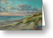 Nauset Beach Greeting Cards - Before The Crowds Greeting Card by Barbara Hageman
