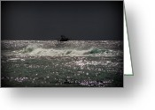 Dark Gray Blue Greeting Cards - Before the Storm Greeting Card by Ramona Johnston