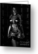 Spank Greeting Cards - Beg for Mercy BW Greeting Card by Alexander Butler