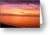 Myrtle Beach South Carolina Greeting Cards - Beginning...New Years Day sunrise at the beach Greeting Card by Elena Tudor