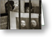 Without Greeting Cards - Behind bars Greeting Card by RicardMN Photography