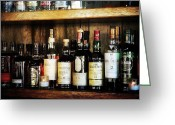 Oregon Art Greeting Cards - Behind the bar Greeting Card by Cathie Tyler