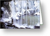 Appalachian Mountains Greeting Cards - Behind the Veil Greeting Card by Thomas R Fletcher
