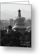 National Treasure Greeting Cards - Beijing City 3 Greeting Card by Xueling Zou